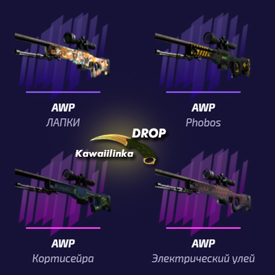 ✅Random2 the price 1 AWP +STEAM key+chance 80% Asiimov