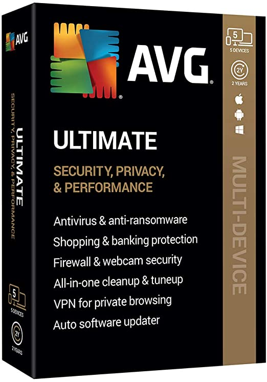 AVG Ultimate 2020 KEY 1 YEAR 2 PC VPN BONUS
