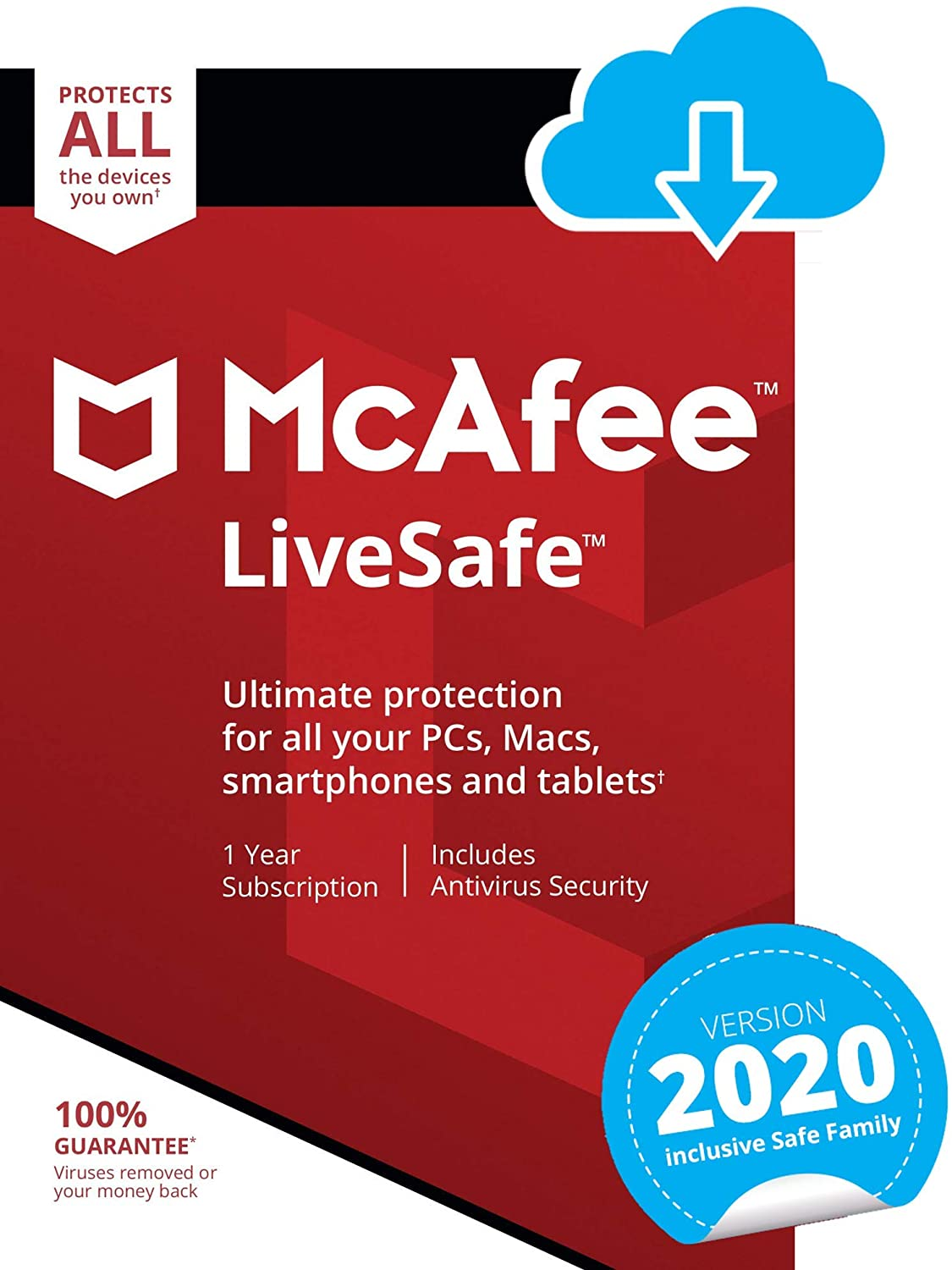 MCAFEE  LIVESAFE 2020 FOR 1 YEAR