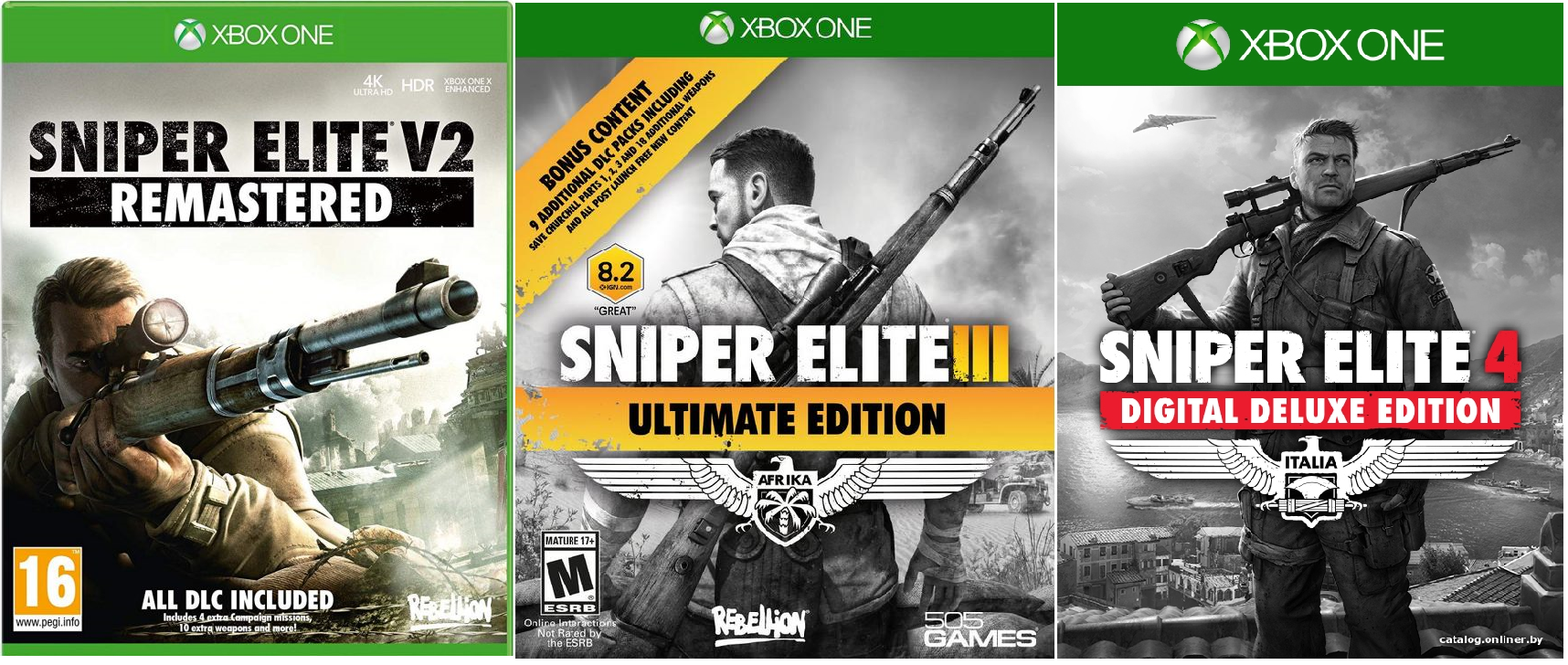 Sniper Elite 2, 3, 4 Ultimate XBOX ONE