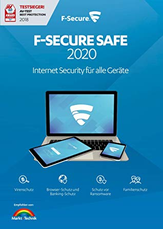 F-Secure SAFE 2020 - 1 year license IP Germany✅