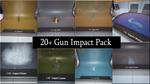 20 + пистолет ударные частицы UE4