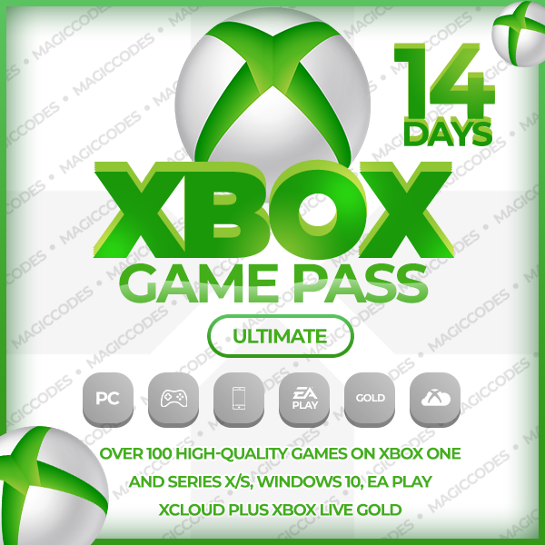 Фотография xbox game pass ultimate 14 + xbox live gold + ea play