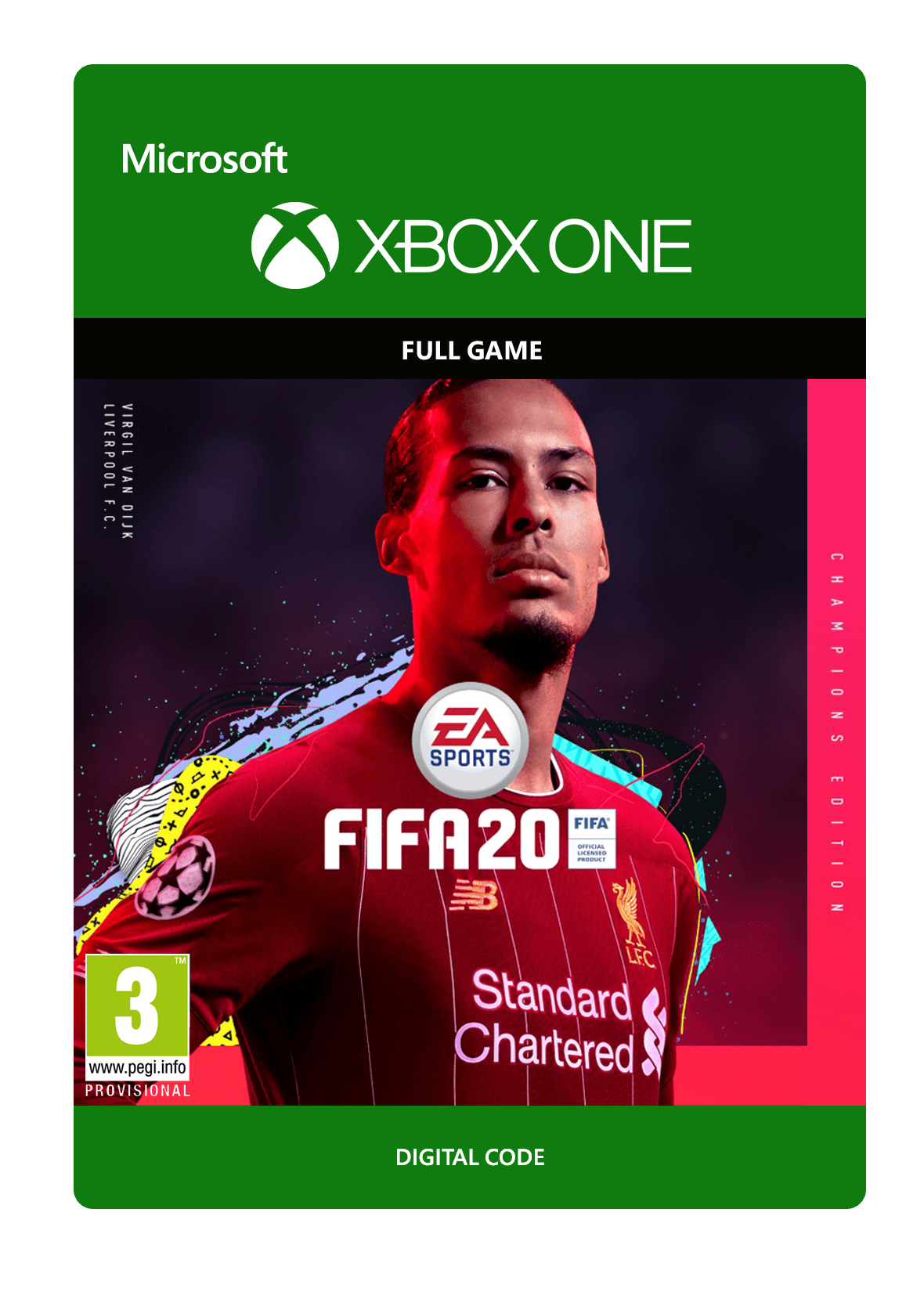 EA SPORTS ™ FIFA 20 XBOX ONE  Key Digital Code