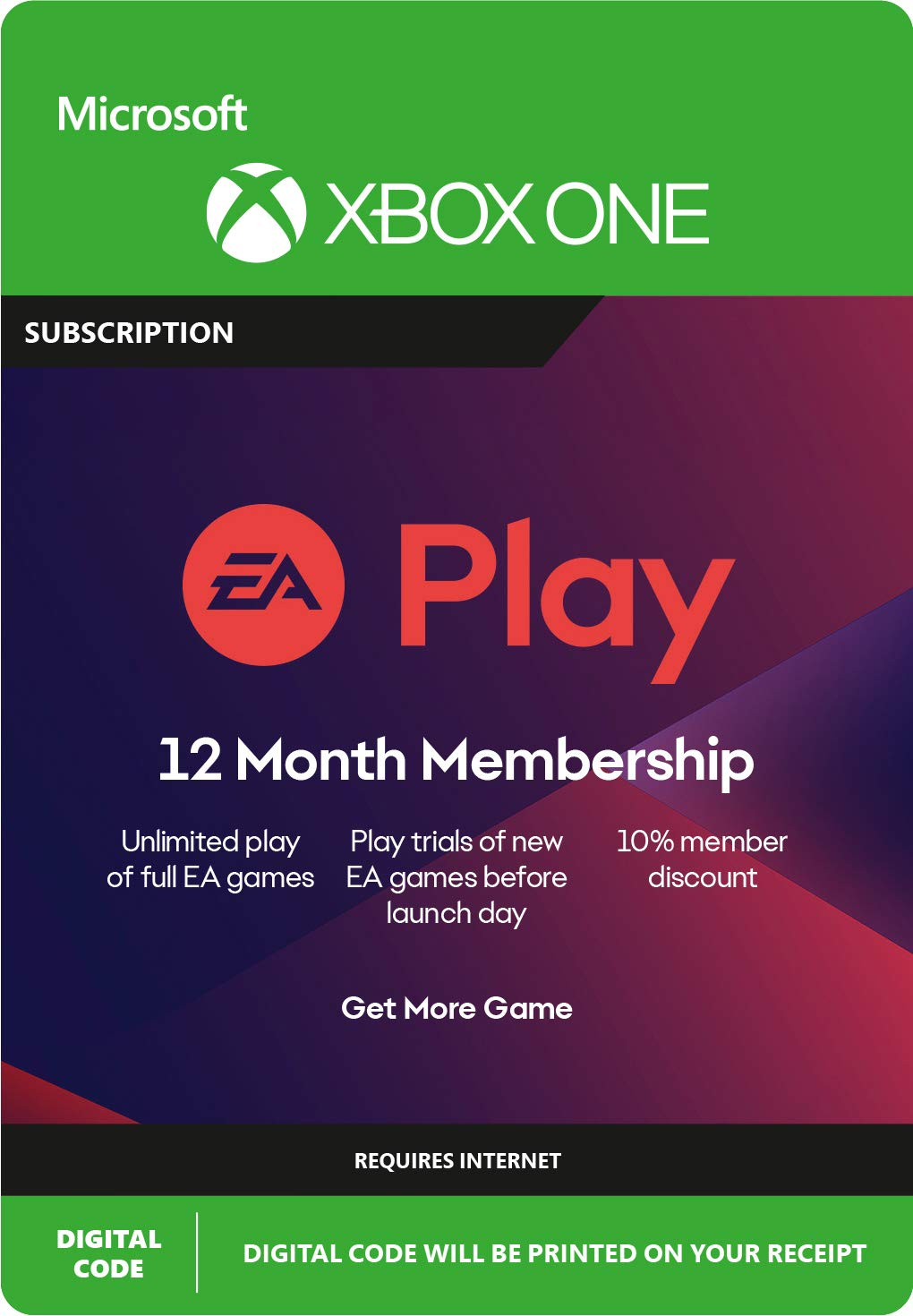 EA ACCESS / EA PLAY 1,2,3 years /  XBOX ONE GLOBAL