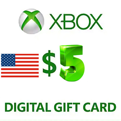 Xbox Live Gift Card $5 USD (USA) ➕ GAME