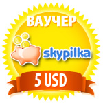 5 USD - Skype voucher! INSTANTLY! (SKYPE OUT / IN) BONU
