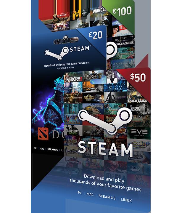 Купить Подарочная карта Steam 10 EUR   ЕВРОПА + ВСЕ РЕГИОНЫ и скачать