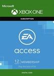 EA ACCESS 12 МЕСЯЦЕВ (XBOX ONE/REGION FREE)