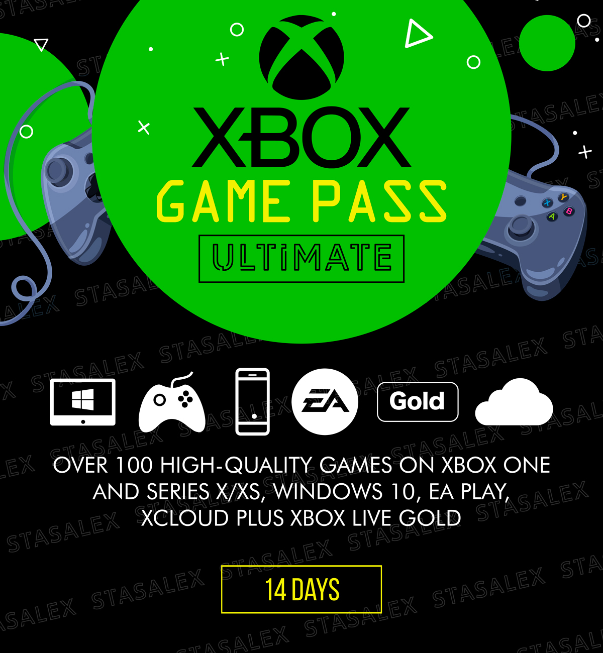 XBOX GAME PASS ULTIMATE 14 DAYS + EA PLAY + GOLD