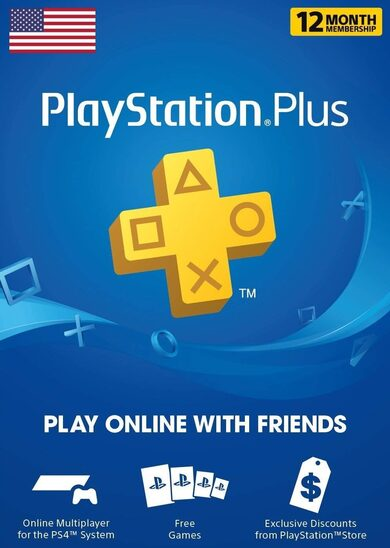 PLAYSTATION PLUS (PSN PLUS) 12 MONTHS | 365 DAYS (USA)