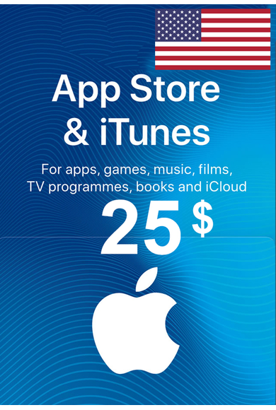 ITUNES GIFT CARD - 25 USD (USA ACC)