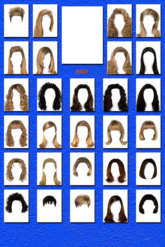 Women´s hair styles - templates for Photoshop