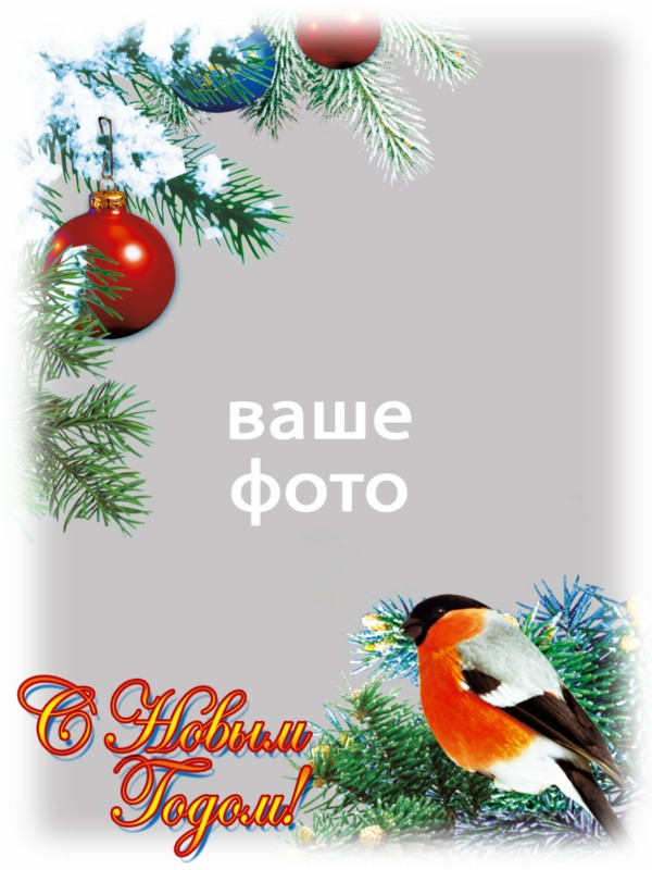 Christmas cards - templates for Photoshop (6 pcs)