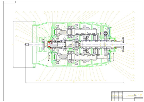 Drawing gearbox KAMAZ-5320