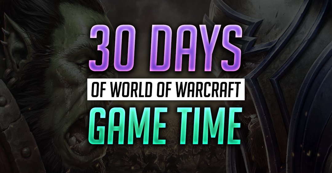 🔑 WORLD OF WARCRAFT 30 Day GameTime+Classic EU/RU