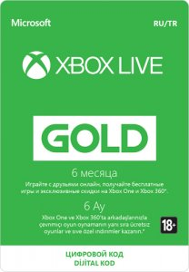 6-Month Microsoft Xbox Live Gold Subscription [RUS]