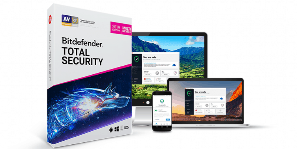 Фотография bitdefender total security 2021 - 90 дней 5 devices