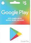 GOOGLE PLAY GIFT CARD $5 (USA)