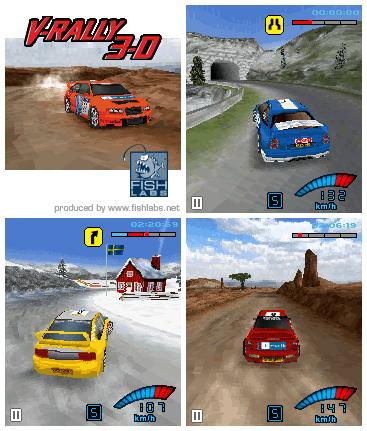 Game V-Rally 3D for Sony Ericsson