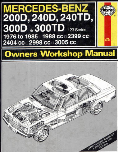 Mercedes-Benz W123 1976-1985 Workshop Manual Haynes