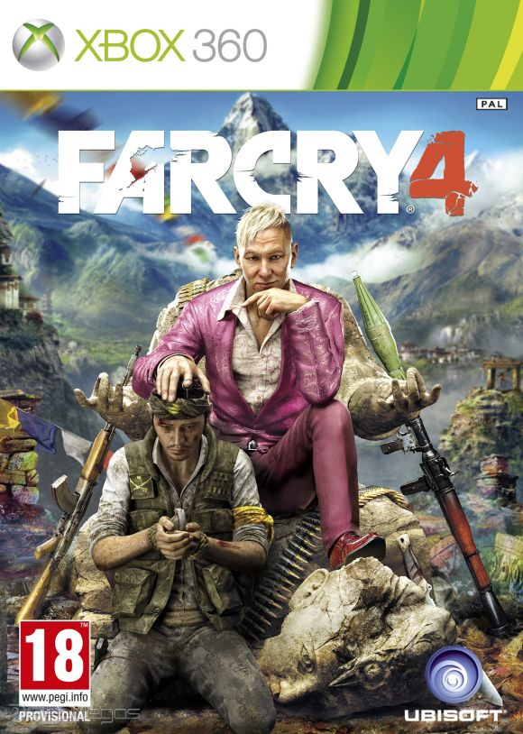 Far Cry 4 + 4 game (xbox 360)