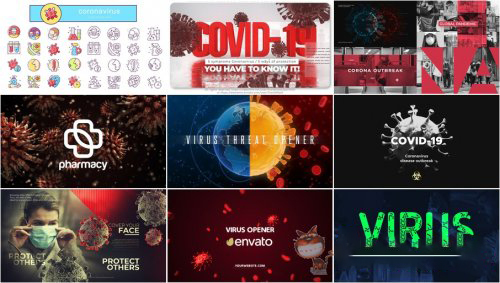 ✅18 Projects on COVID-19 | AfterEffects Coronavirus