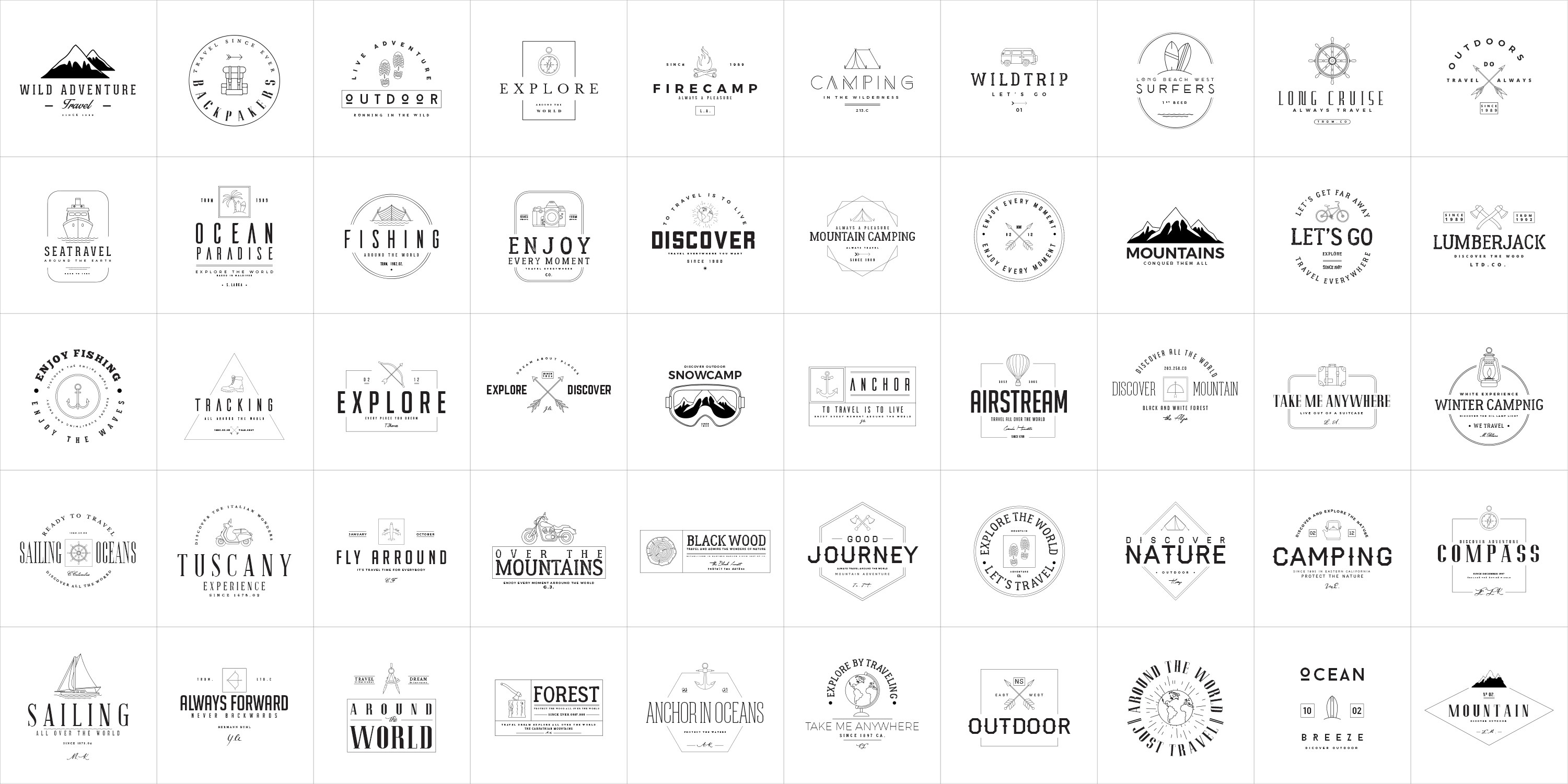 💙Large pack of logo templates. 1800 files (Ai, PSD)