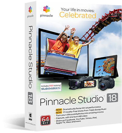 Corel™ Pinnacle Studio 18 St [FOTO key] + GIFT
