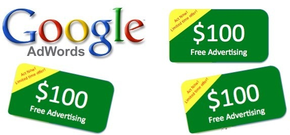 Coupon Google Adwords win 100$ pay 25$ USA