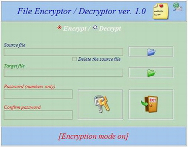 EnDeCryptor-software encoding / decoding files