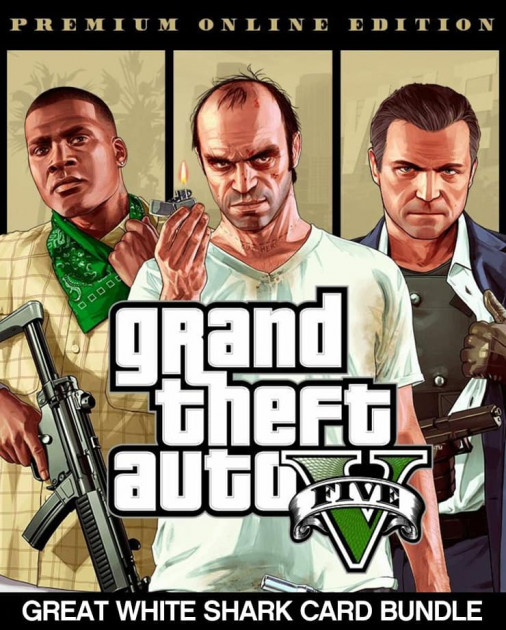 🌍 Grand Theft Auto V: Premium + Whte Shark Xbox key 🔑