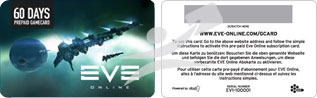 Eve Online Time Card for 60 days Discount System
