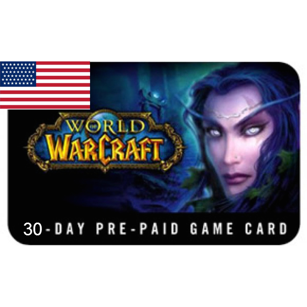 🥇World of Warcraft 30days Time Card(US)+CLASSIC