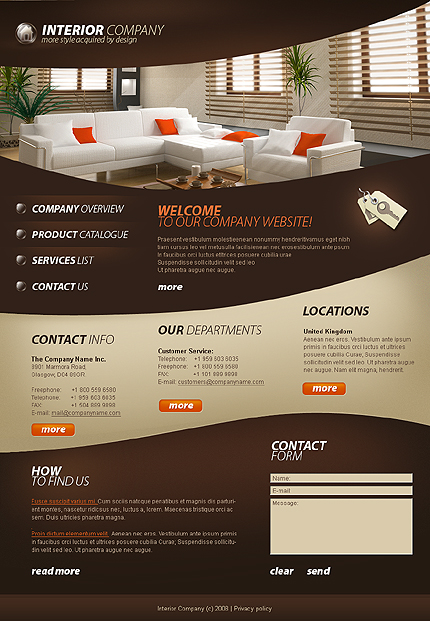 Professional templates on the theme of Interior and finishing