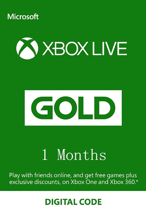 XBOX LIVE GOLD - 1 month (GLOBAL)