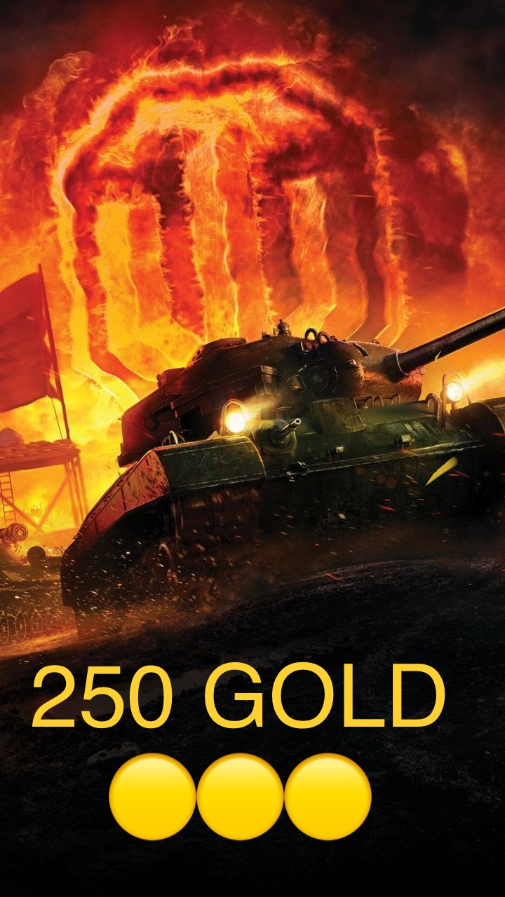 WORLD OF TANKS 250 GOLD GAME CURRENCY WOT GOLD