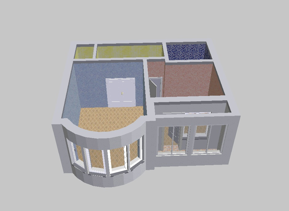 2D and 3D planning, projects of apartments I-155