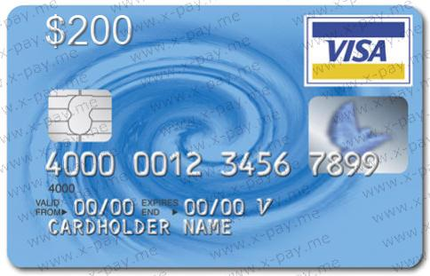200 VISA VIRTUAL + Express check, ONLINE 3DS. PRICE