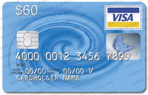 $60 VISA VIRTUAL + Express check, NO 3D Secure. PRICE