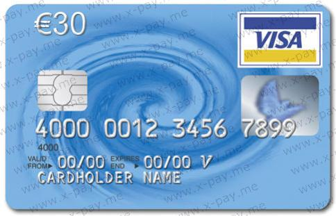 EURO 30 Virtual Visa Virtual Prepaid Card