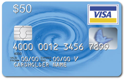 US Bank $50 Visa Virtual AMERICAN BANK, statement