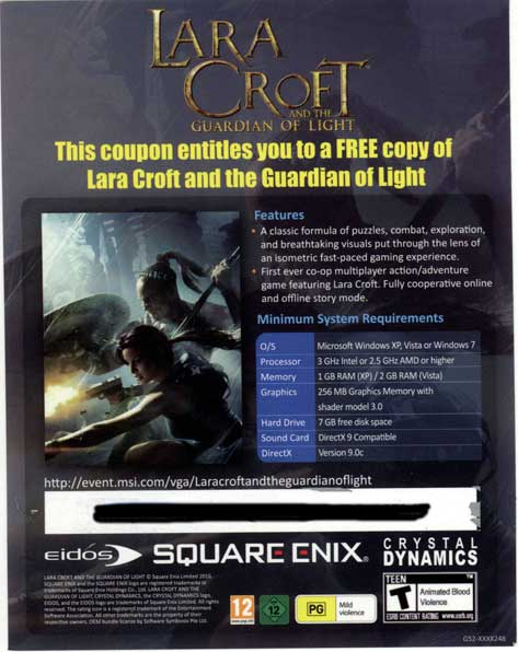 Lara Croft And The Guardian Of Light  CD-KEY  STEAM